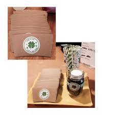 St Patricks Day Wedding Four Leaf Clover Personalized Sticker Inktropolis