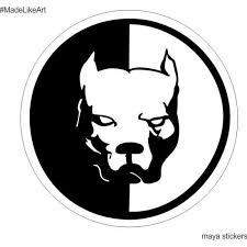 Pitbull Dog Logo Decal Sticker For Bikes Cars Laptop And Wall Dog Stickers Pitbull Dog Dog Logo