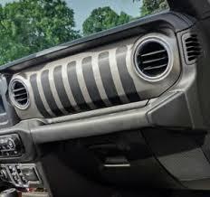 Jeep Wrangler Jl Gladiator Dashboard Jeep Grill Decal Vinyl Dash Sticker Ebay