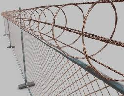 3d Model Barbed Wire Fence Cgtrader