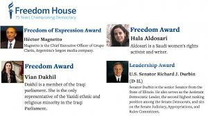 awarded for defending freedom of press