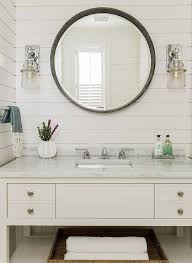 round bath mirror bathroom gold cabinet