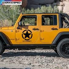 Five Pointed Star Vinyl Decals Us Army Graphics Car Bonnet Hood Decor Sticker Auto Door Side Decal For Jeep Wrangler Suv Car Stickers Aliexpress