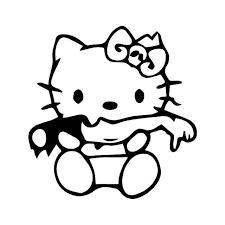 Hello Kitty Zombie 1 Vinyl Sticker
