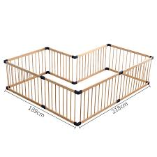 Buy Top Selling Wooden Eco Friendly Baby Fence Gate With 61cm Height Used As Game Playpen With Door Online