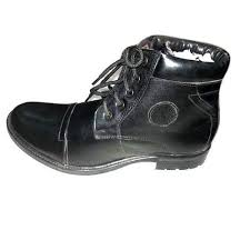 leather black lace up boot size 7