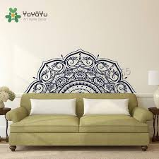 Boho Vinyl Wall Decal Half Mandala Wall Decals Flower Home Decoration Ideas For Bohemian Mural Headboard Wall Stickers Yogazw496 Buy At The Price Of 10 73 In Aliexpress Com Imall Com