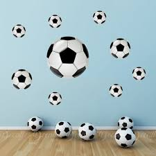 3d Soccer Ball Wall Stickers Peel And Stick Reusable Wall Etsy