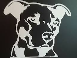 Pitbull Mom Decal Sticker Car Window Bumper Wall I Love My Rescue Dog 4 Inches