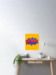 Pow Comic Book Sound Effect Poster By Mikeprittie Redbubble