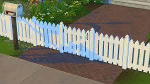 Mod The Sims White Picket Fence And Gates