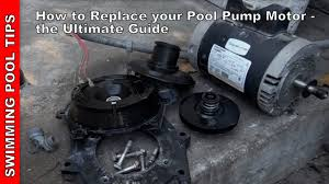 how to replace a pool pump motor the