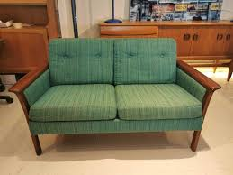 mid century rosewood 2 seater sofa by