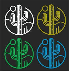 Cactus Car Window Decal 2 For 1 Price Pick Your Size Color Ebay