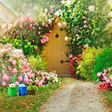 ربيع الزهور حديقة الخلفيات لحفل زفاف رومانسي الوردي الورود