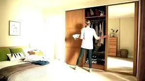 small sliding door mirrored wardrobe