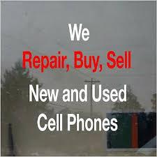 We Repair Buy Sell Cell Phone Business Vinyl Decal Sticker Window Lettering 23 Ebay