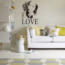 Bob Marley One Love Wall Art Mural Poster Living Room Background Wall Decal Sticker Home Decor Wall Applique Wall Quote Paper Wall Decals Stickers Wall Quoteswall Appliques Aliexpress