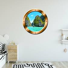 East Urban Home Nature Scene Porthole Ocean Wall Decal Reviews Wayfair