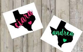 Texas Monogram Decal Custom Decal Texas Heart Yeti Etsy Custom Decals Monogram Decal Yeti Decals