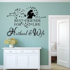 17 Off 2020 Dsu Husband Wife Also Best Friend English Quote Art Wall Sticker In Black Dresslily