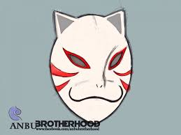 printable anbu mask papercraft