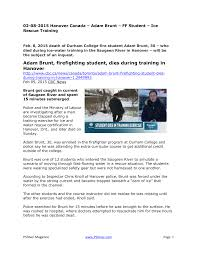 Adam Brunt, firefighting student, dies during training in Hanover
