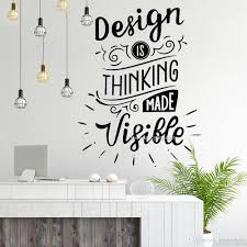 Design Made Visible Office Quotes Wall Decals Office Wall Art Murals Wall Decor Stickers Vinyl Wallpaper Lettering Poster Tree Wall Art Stickers Tree Wall Clings From Joystickers 11 67 Dhgate Com