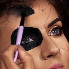 half skull makeup tutorial