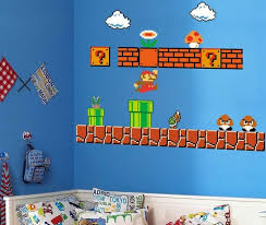 Super Mario Wall Decals 10 99 Transform Your Boring Walls Into A Level From Your Favorite Game With This Su Wall Decals Nursery Wall Art Boy Super Mario