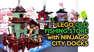 Setting the LEGO Old Fishing Store (21310) with Ninjago City Docks (70657)  - YouTube