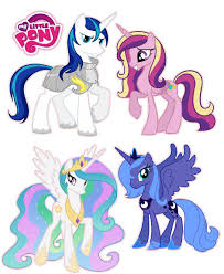 My Little Pony Princess Set Luna Cadence Celestia Removable Wall Stickers Decals My Little Pony Princess Little Pony My Little Pony