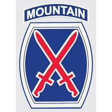 Army 10th Mountain Division Military Window Decal Star Spangled 1776