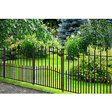 Peak Products Dig Free Fencing Victoria 3 Ft H X 34 Inch W Galvanized Steel Fence Gate The Home Depot In 2020 Steel Fence Steel Fence Panels Garden Privacy Screen