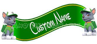 Paw Patrol Rocky Wall Decal Removable Sticker Custom Name Ebay
