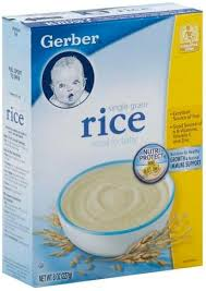 gerber single grain rice cereal for