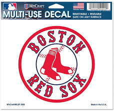 Amazon Com Boston Red Sox 4x6 Color Decals Sports Fan Decals Clothing