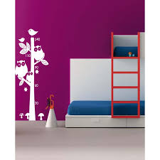 Shop Funny Stairs Owl Animal Tree Growth Wall Art Sticker Decal White Overstock 11850574