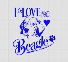 I Love My Beagle Beagle Decal Dog Decal Beagle Car Decal Vinyl Decal Laptop Decal Pet Decal W Beagle Bulldog Breeds Dog Tshirt