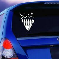 Removable Waterproof Vinyl Wall Sticker Decal Triangles Mountains Sun Clouds Ebay