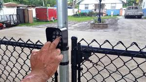 Gate1 Ga 15 Wireless Keypad On Chain Link Fence Youtube