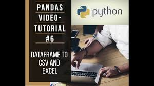panda dataframe to csv and excel