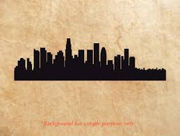 Decals Stickers And Vinyl Los Angeles Ca City Skyline Cityscape Silhouette Car Decal Window Wall Sticker