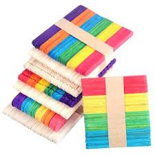 48 50pcs Color Logs Diy Wood Crafts Raw Materials Popsicle Sticks Homemade Creative Sticks Cottage Wooden Fence Pen Holder Tool Wood Diy Crafts Aliexpress