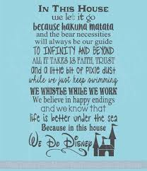 In This House We Do Disney Wall Decals Letters For Cool Room Decor