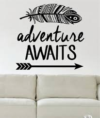 Adventure Awaits Version 1 Mountains Arrow Design Decal Sticker Wall V Boop Decals