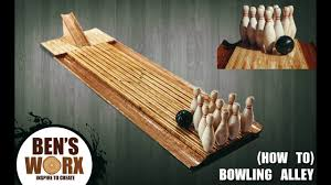 how to make a mini bowling alley you