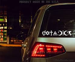 Amazon Com Eat A Dick Decal Funny Coexist Parody Sticker For Car Or Truck Bumper Or Window Arts Crafts Sewing