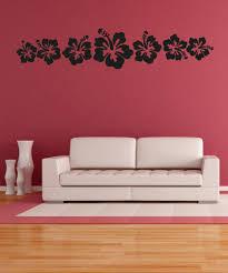 Vinyl Wall Decal Sticker Hawaiian Flowers Os Aa240 Stickerbrand