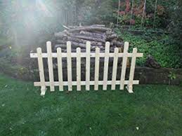 Wooden Free Standing Picket Fence Panel 6ft X 3ft Staggered Amazon Co Uk Diy Tools